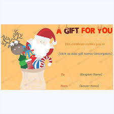 Gift Certicate Template Perfect Christmas Day Gift Card Template Word Layouts