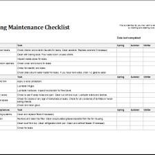 Sample Preventive Maintenance Checklist