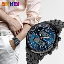 <b>SKMEI</b> 1032 <b>Men's Quartz Digital</b> Sports Casual Wristwatch Dual ...