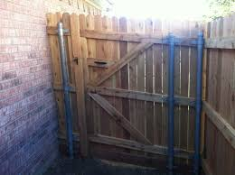 wood gates with metal frame