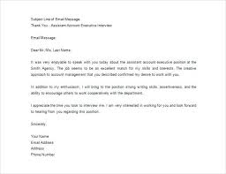 Email Thank You Letter After Interview Format For New Formal