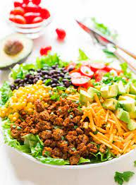 There's often a great divide between the word healthy and filling when it comes to food. Healthy Taco Salad With Ground Turkey And Avocado