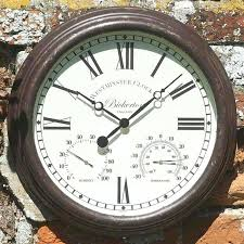 large outdoor clock fabulous outdoor clock highest clarity large outdoor clock extra large outdoor clock thermometer