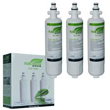 lg refrigerator water filter. lt700p refrigerator water filter for lg, kenmore, sentinel 3 pack lg