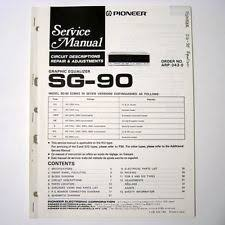 pioneer graphic equalizer pioneer ® sg 90 graphic equalizer service manual new