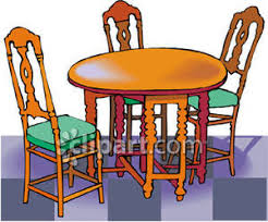 kitchen table clipart. eating at table clipart kitchen
