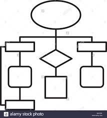 Diagram Flow Chart Connection Empty Stock Vector Art