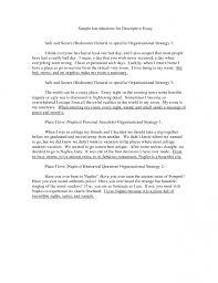 descriptive essay example place descriptive essay example  samples of descriptive essays