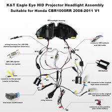 honda cbr1000rr headlight assembly 2008 2009 2010 2011 honda cbr1000rr wiring diagram Honda Cbr1000rr Wiring Diagram honda cbr1000rr hid led projector headlight assembly 2008 2011