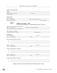 Blank Resumeksheet Oneswordnet Builder Building For Teens