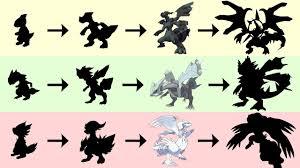 Zekrom Reshiram Kyurem Evolution Pokemon Gen 8 Fanart