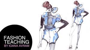 Youtube Fashion Design Sketches Easy Fashion Design Drawing