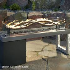 wave fire pit burner outdoor fireplaces the diy make your own gas