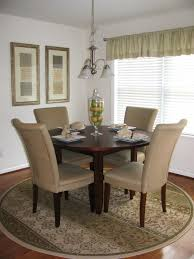 Dining Room A Mesmerizing Patterned Round Large Dining Room Rugs