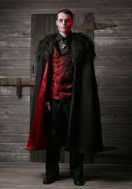 Plus Size Deluxe Menu0027s Vampire Costume 2X 3X
