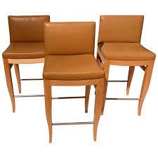 leather bar stool holly hunt light beech tan leather bar stools set of three for leather bar stool
