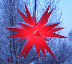 Roter Led Weihnachtsstern Außen Hängend Dekoleuchte