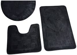 black and white bathroom mat sets bath rugs vanities