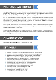 Sample Resume For Entertainment Industry Sample Resume For