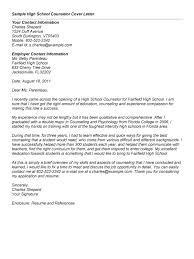 Best Ideas Of High School Counselor Cover Letter With Sample Cover