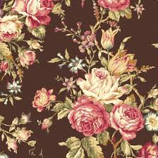 21 best Halloween Fabrics images on Pinterest | Quilting, Bags and ... & Mary Rose Quilt Gate Fabric Collection AMELIA 11F Beautiful Floral Flower  Rose Bouquet on Chocolate Brown Adamdwight.com