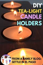 Diy Tea Light Candle Holders Rustic Tea Light Candle Holders A Wooden Candle Holder Diy