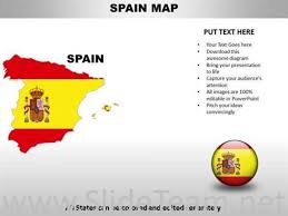 Country Powerpoint Maps Spain Powerpoint Diagram