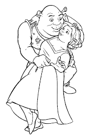 Small Picture Shrek And Fiona Dancing Coloring Pages Coloring Pages Coloring