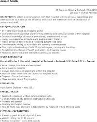 Porter Resume Examples 6 Porter Resume Templates Free Download