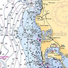 Ocean Charts California California La Jolla Pacific Beach Ocean Beach Nautical Chart Decor
