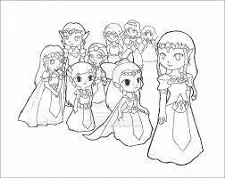 Princess Zelda Coloring Pages Printable Legend Zelda Link Coloring