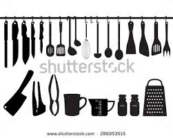 kitchen utensils silhouette vector free. Kitchen:Kitchen Utensils Vector Stock A Collection Of Kitchen Hanging On Bar And Silhouette Free T