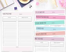 Daily Planner Pages For Time Management I Hope You Like This