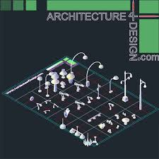 autocad 3d chandelier 3d pole 3d shade 3d light bulb decorative lights