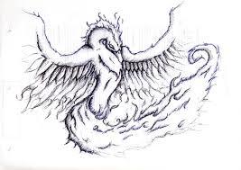 Drawings Of Phoenix Blue Phoenix Sketches Golfclub