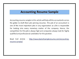 Resume Examples For Accounting – Ahlussunnah.info