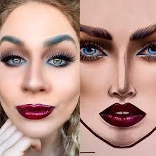 Milk1422 Instagram Inspired Abstract Blue Smokey Eye Makeup