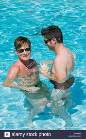 Boy gay in pool