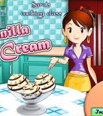 sara cooking cl vanilla ice cream recipe game