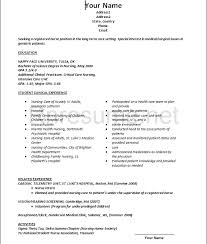 new grad nursing resume clinical experience new grad rn resume template amypark us