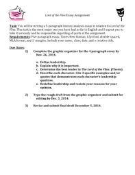 lord of the flies lord of the flies essay assignment