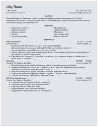 Associate Resume Sample Resume Retail Sales Associate No Experience Best 23 Retail