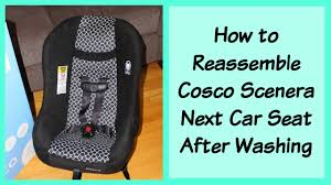 how to adjust straps or reemble cosco scenera next car seat