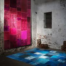 over dyed patchwork rugs