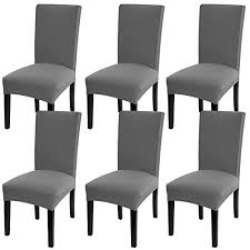 fuloon super fit stretch removable washable short dining chair protector cover seat slipcover for hotel