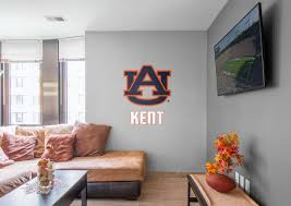 auburn tigers stacked personalized name fathead wall decal on auburn tigers wall art with auburn tigers stacked personalized name wall decal shop fathead