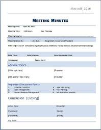 Meeting Minutes Template Microsoft Word Ms Word Formal Meeting Minutes Template Word Excel Templates