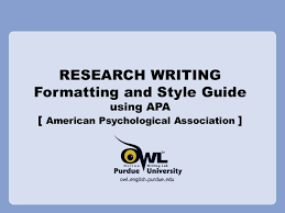 Formatting A Research Paper Research Writing Apa References Style