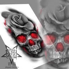 череп с розой эскиз для татуировки эскиз тату мастера вики салон