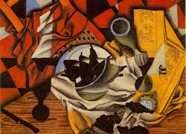 juan gris pears and gs on a table céret autumn 1913 oil